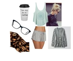 """""""Lazy rainy Saturday"""" by hanni2493 on Polyvore featuring RVCA, Eberjey and American Eagle Outfitters"""