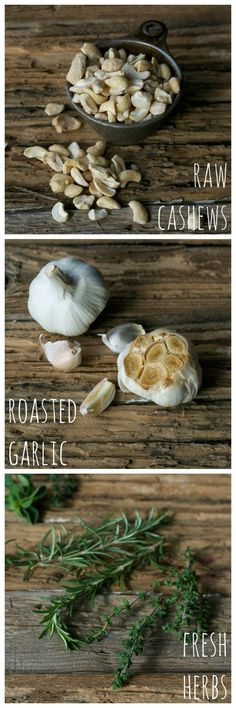 Recipe from Crave Eat Heal: Roasted Garlic & Fresh Herb Cream Cheez (Creamy Craving)