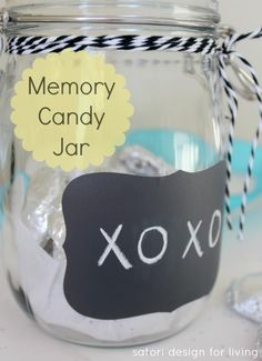 Handmade Gift Idea- Memory Candy Jar