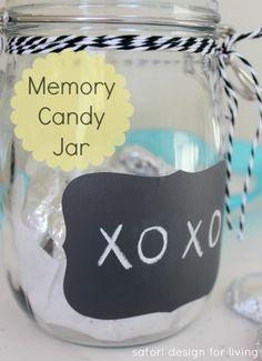 Handmade Gift Idea- Memory Candy Jar