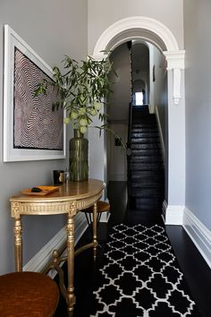black flooring Contemporary Home Decor Ideas ~ Before amp; After: a Victorian terrace becomes a beautiful contemporary home - Vogue Living Decor, Townhouse Designs, House Design, House, Home, Victorian Terrace House, Contemporary House, Contemporary Home Decor, Interior Design