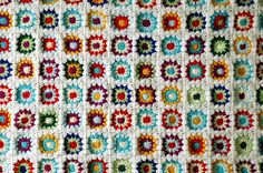 Growing very obsessed with crocheted Granny square blankets.