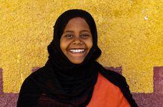 Nubian girl, Nubian village near Aswan, Egypt