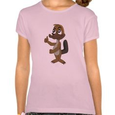 T-shirt with platypus cartoon
