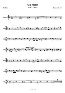 Ave María Partitura para Flauta dulce, travesera o de pico del Ave María de Shubert. Sheet Muic for flute Ave María by Shubert (music scores)