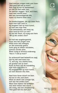 Gedicht dementie. Alzheimers, Coaching, Mindfulness, Personalized Items, Feelings, Tips, Quotes, Annie, Om