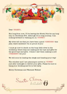 Kids letters to santa enjoy christmas with santa claus for Cheap letters from santa claus