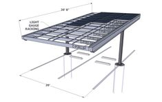 Solar carport Render Single Column