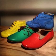 Love the Bold colours of these Manuela De Juan Patent Leather Shoes SS14  ...which is your favourite?