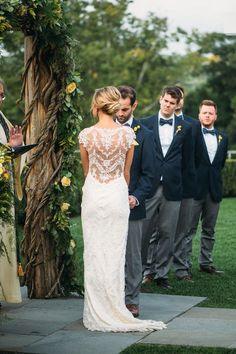 Claire Pettibone Chantilly Lace Wedding Dress