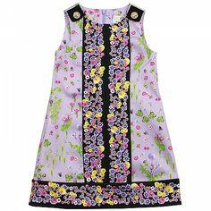Purple Girls Flower Dress