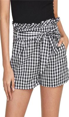 29fb096499b Florence Gingham Shorts - Black + White