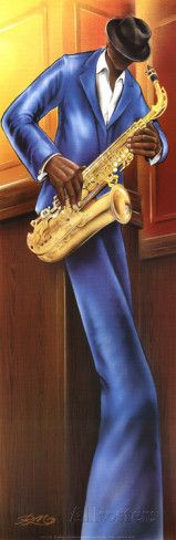 The Saxophone Player Prints by Magrini at AllPosters.com