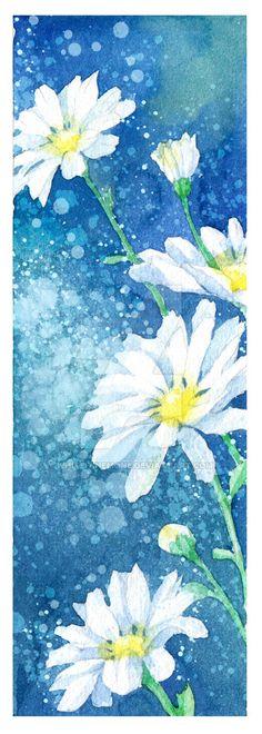 Bookmark daisy by White-Anemone on DeviantArt