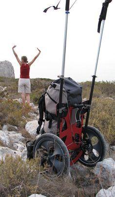 BENPACKER - Hiking trolley for pilgrimage or hiking (Camping Hacks Bugs) Backpacking Tips, Hiking Tips, Camping And Hiking, Hiking Gear, Hiking Backpack, Camping Gear, Outdoor Camping, Outdoor Gear, Camping Tools