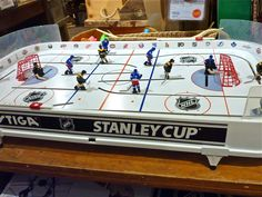 Retro table hockey game at the Vermont Country Store in Weston, Vt.  http://visitingnewengland.com/blog-cheap-travel/?p=7214