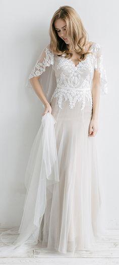 Lovely wedding dress by Rara Avis