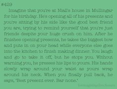 Niall imagine:) this one gave me butterflies..