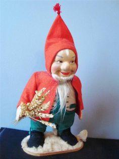 Vintage Ronnaug Petterssen Norwegian Nisse Man FELT DOLL Father Santa Christmas