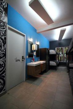 Camera comune all'Hostal La Buena Vida, nuovissimo ostello di design a Città del Messico. Prezzi da 18€