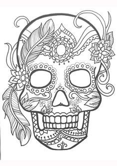 Skull Color Pages Skull Coloring Pages For Kids Safewaysheetco. Skull Color Pages Coloring Pages Bones Of The Skull Coloring Pages Picture. Flower Coloring Pages, Mandala Coloring Pages, Coloring Pages To Print, Coloring Book Pages, Coloring Sheets, Colouring Pages For Adults, Kids Coloring, Online Coloring, Skull Color