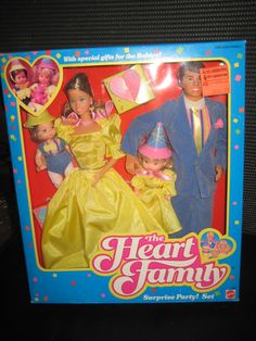 The Heart Family Dolls Suprise Party NIB 1985 Mattel - Free shipping by Piffy500 on Etsy