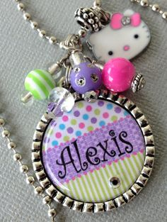 Dance PERSONALIZED Name Silver Pendant Necklace  by buttonit, $17.50