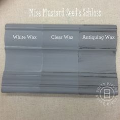 Miss Mustard Seed's Milk Paint in Schloss With Antiquing Wax, White Wax and Clear Wax!   Suite Pieces