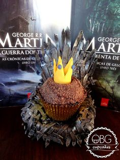 Game of Thrones wine and chocolate cupcake/ Cupcake de vinho e chocolate @obgcupcakes