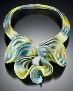 Elise Winters, Citron Cascade RUFFLE, neckpiece, 2009