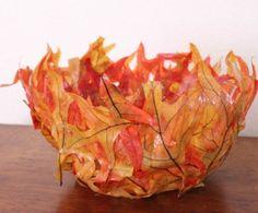 Este vaso feitos com folhas pode ficar em qualquer ambiente de sua casa (Foto: madewithhappy.com)