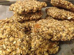 galletas de avena, sesamo y semillas, veganas