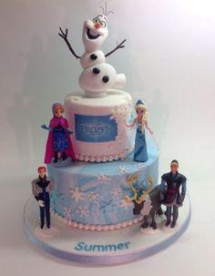 Birthday Cakes - Frozen. I like the marbled blue fondant