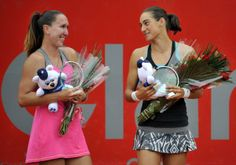 4/13/14 Caroline Garcia Wins Maiden WTA Title Over Jelena Jankovic in Bogota..Not only does the win give Caroline her 1st ever WTA Title, Caroline's win over Jelena is also her 1st ever Top-10 victory after being 0-6 v Top-10 opponents. Caroline also claimed the Doubles Title w/ Lara Arruabarrena. Caroline is the first WTA player to win Titles in Singles & Doubles at the same event since Serena Williams won Olympic GOLD with sister Venus in both Singles & Doubles FINALS at the 2012 Summer…