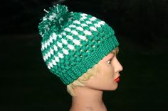 Kids Crochet Slouchy Hat Multi Colored  Puff by OneInEssence, $10.00