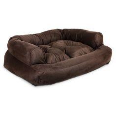 """Snoozer Luxury Overstuffed Sofa in Hot Fudge    X-Large  54"""" L X 36"""" W X 8"""" H  Interior: 34"""" L X 24"""" W  SKU: 2128796"""