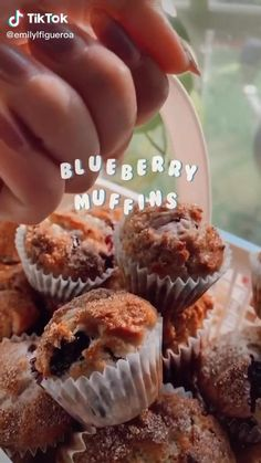 Fun Baking Recipes, Sweet Recipes, Snack Recipes, Dessert Recipes, Cooking Recipes, Comida Diy, Cafe Food, Blue Berry Muffins, Food Cravings