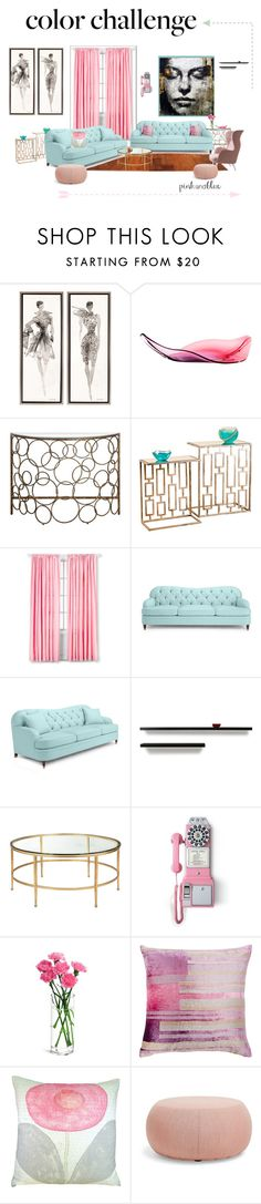 """""""Untitled #1427"""" by lindagama on Polyvore featuring interior, interiors, interior design, home, home decor, interior decorating, Kate Spade, Crosley Radio & Furniture, Kevin O'Brien and Sugarboo Designs"""