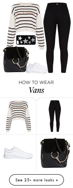 """""""Untitled #1754"""" by blossomfade on Polyvore featuring Topshop, Vans and Chloé"""
