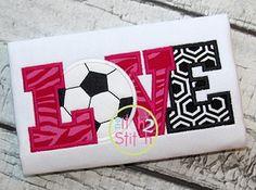 Soccer Love Applique