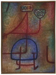 "Paul Klee, ""La Belle jardinière"" (1939), oil and tempera on hessian canvas (courtesy Zentrum Paul Klee, Bern)"