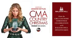 Enter to win a collection of signed Christmas CDs along with the same @balsamhill tree and décor used to design the CMA Country Christmas stage!