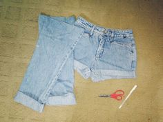 DIY high waisted shorts, I know they could be really pricey.. Just get them at a thrift store! Go look at some jeans, find so nice high waisted pants, long, short, doesn't matter as long as it fits your waist and upper thighs. Buy them, take em home and cut it to however you want! Personalize with studs, bleach it, distress em, or just roll them up like me c: