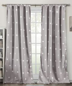 This Gray Dottie Blackout Heavy Curtain Panel - Set of Two by Duck River Textile is perfect! #zulilyfinds