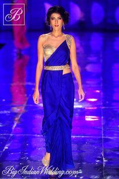 Jyotsna Tiwari designer #saree with belt - looks like an easy piece to wear...love it.