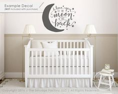 VINYL DECAL NOT INCLUDED. ~I Love You To The Moon And Back 8 x 10 Nursery Art Printable Dream Big Hand Lettered Printable Babys Room Boy or