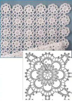 Delicate Crochet Motif - Free Crochet Diagram - (ivelisefeitoamao) by carlani Crochet Motifs, Crochet Blocks, Crochet Diagram, Crochet Squares, Crochet Chart, Thread Crochet, Crochet Granny, Crochet Doilies, Crochet Flowers