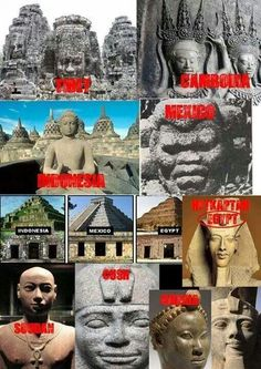 When your eye is open you see the history right in front of you and for what it is. Kemets pyramids are distorted now they used to be stepped or staged just like the ones on the American continents that predate the pyramids in Kemet. Now for those that aren't up on your history in truth. Take a moment and ask yourself how are the. Pyramids in America older than the ones in Kemet? Take a second to look at the stone head for Mexico and there's your answer, study the real cradle of humanity… Black History Facts, Black History Month, History Books, World History, Atlantis, Aliens, African Royalty, History Education, History Teachers