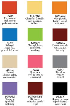 Color Choice Meanings