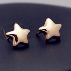 Gold star studs Super cute earrings $8.00 a pair! Ask me about bundle deals!  NO TRADES and PRICE IS FIRM unless bundling!! Happy Poshing ❤️ Jewelry Earrings